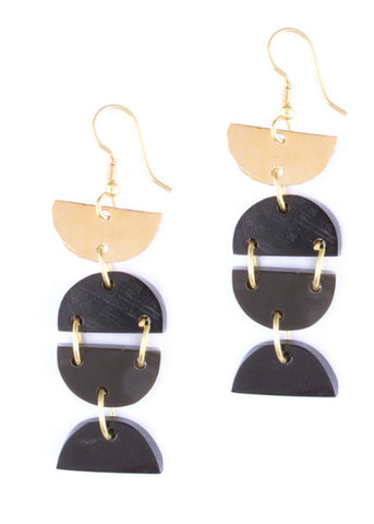 Cascading Crescent Earrings
