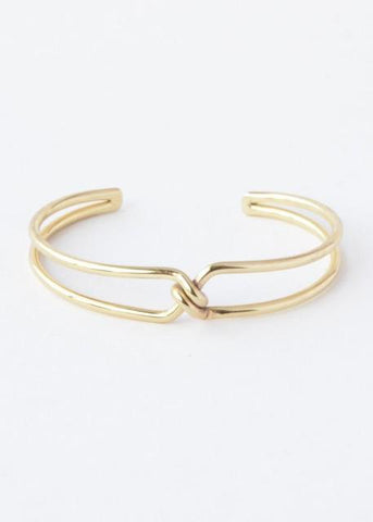 Knotted Cuff- Gold