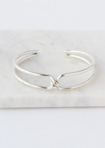 Knotted Cuff- Silver