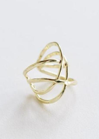 Criss Cross Ring- Gold