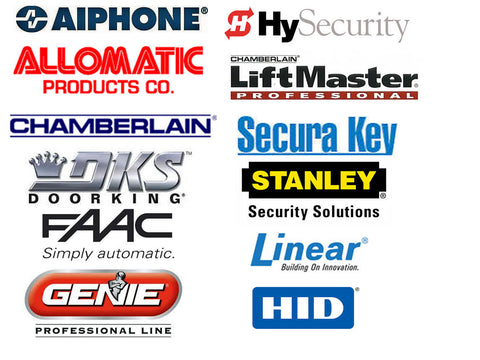 security gate manufactures logo