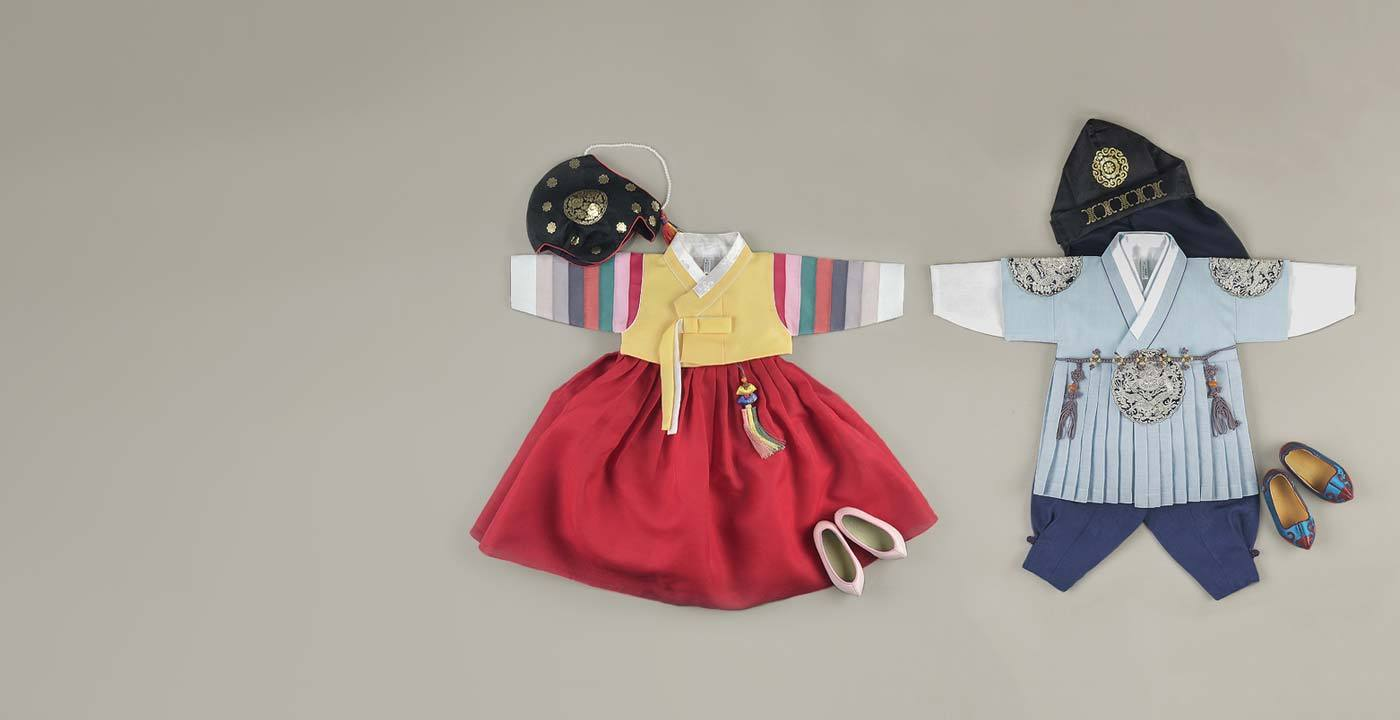 Find a wide selection of Dol Hanboks for baby boys and baby girls for Doljanchi and Doljabi.