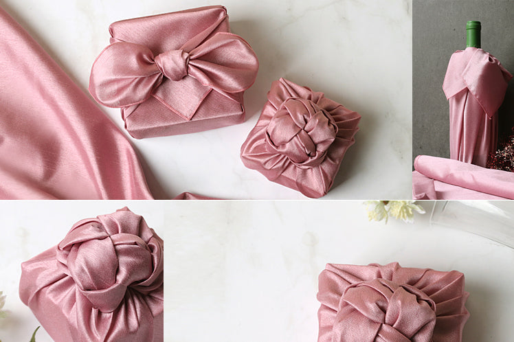 This phenomenal dark pink single sided Bojagi is the ultimate gift wrapping cloth for Seollal or Christmas.