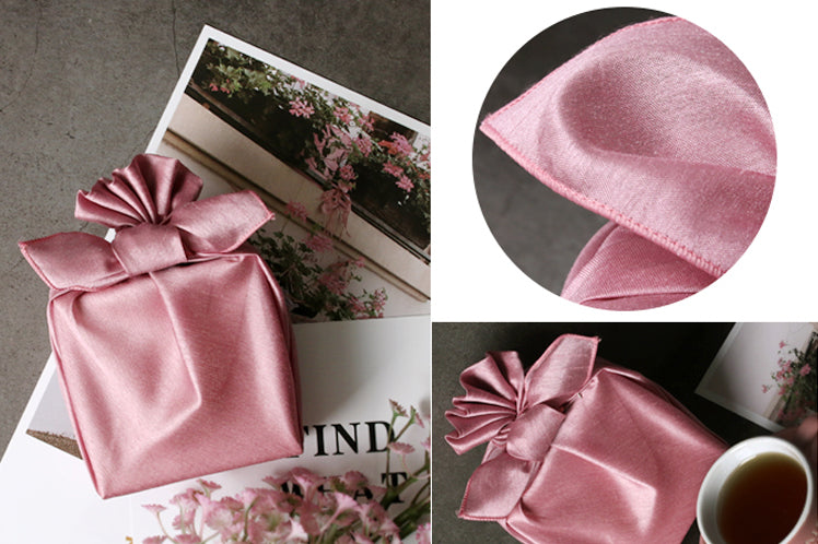 Bring elegance to any party with this rose colored Korean Bojagi. You'll amaze the crowd with this luxury gift wrap.
