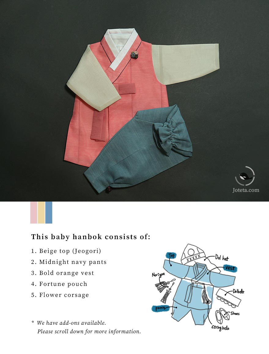 Baby boy hanbok is unmatched in quality and price. Joteta provides the best garment for hanboks which ensures comfortability for your baby to have space to wiggle and wear in comfort.
