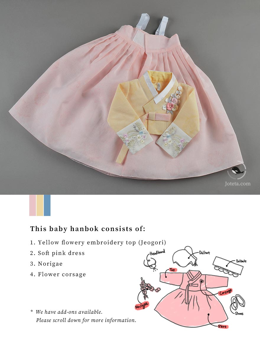Get the highest quality garment for your hanbok. The colors are radiant, the designs are unique, and the fit is adjustable for perfection. Joteta provides the best baby hanboks.