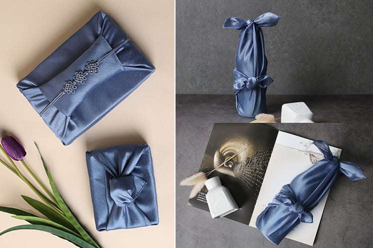 Midnight blue Bojagi is an impeccable choice if you're wrapping presents with fabric.