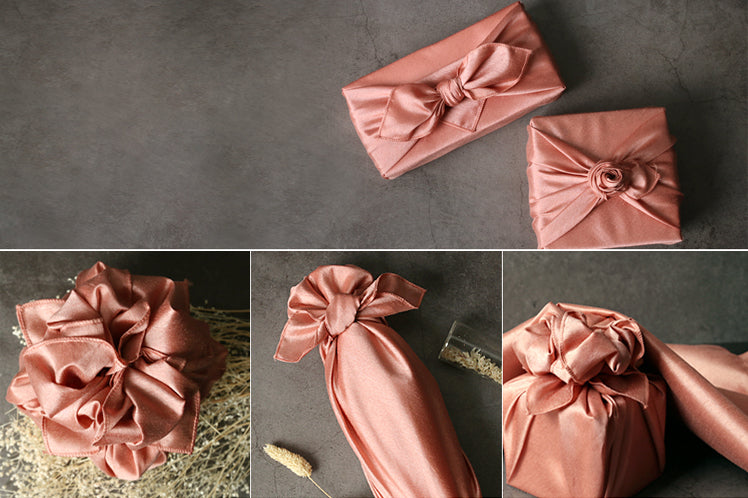 Coral single sided Korean wrapping cloth Bojagi can be used for any occasion and takes fabric wrapping to new heights.