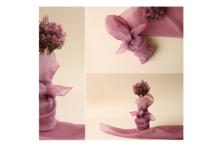 Add beauty and grace to any occasion using the lilac colored Bojagi Korean wrapping cloth.