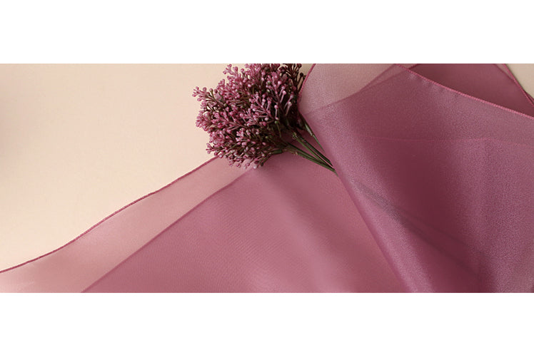 The Bojagi fabric in wine is painless to manipulate for any shaped object since it's fabric wrapping paper.