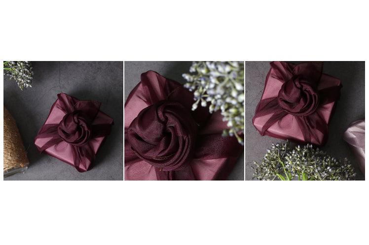 This violet Bojagi can add a fairy-tale ending to any Doljanchi and it's luxurious fabric wrapping.