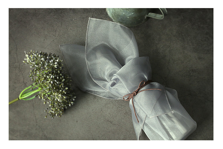 Gray lucid Bojagi is the best possible luxury gift wrap that you can buy out of all of the Bojagi for sale.