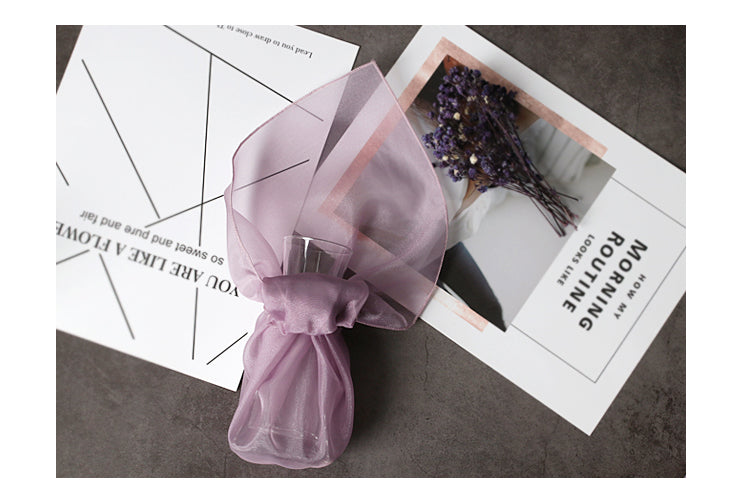 Spruce up any celebration with this purple lucid Korean Bojagi gift wrapping cloth.