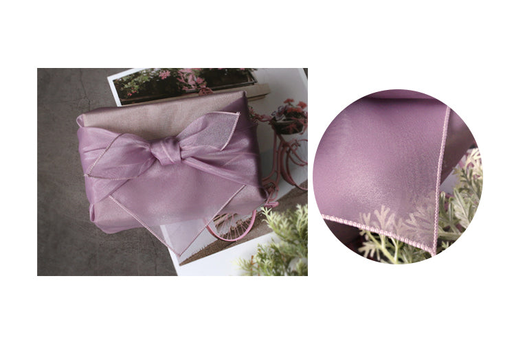 Mauve Korean Bojagi is a royal wrapping cloth that comes in a variety of sizes and is also reusable.