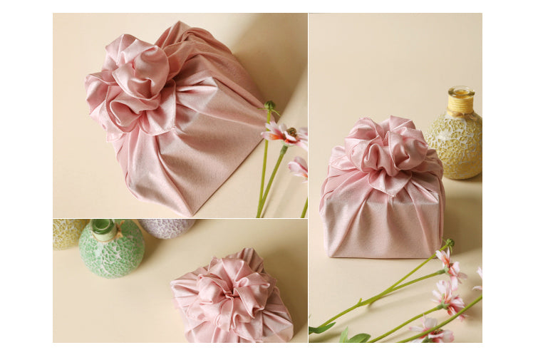 A woman that receives a gift wrapped in this reusable gift wrap will be excited and overjoyed.