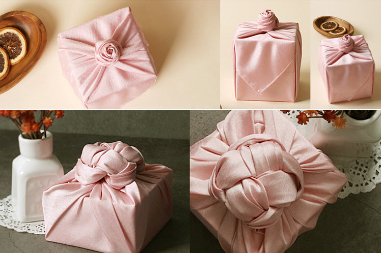 Wrapping gifts with fabric isn't difficult and you can bring your own style to the Korean Bojagi to make it unique.
