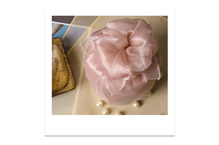 Any woman getting married would love to have this rose colored Bojagi as their fabric gift wrap.