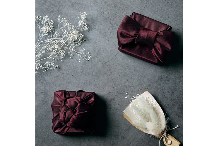 Stunning and timeless this Bojagi Korean wrapping cloth in mulberry works for just about any Korean special occasion.