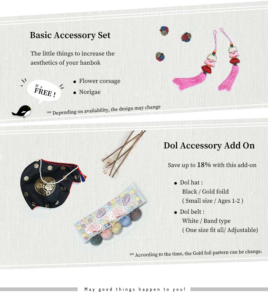 Free hanbok accessories when people purchase their hanbok on Joteta. Although we're also on etsy as hanbok vendors, we prefer people purchasing it directly on Joteta, our Korean hanbok shop.