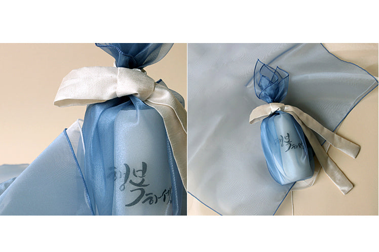 Gift your best friend a cup wrapped in this Korean fabric cloth known as Bojagi for a very spectacular look.