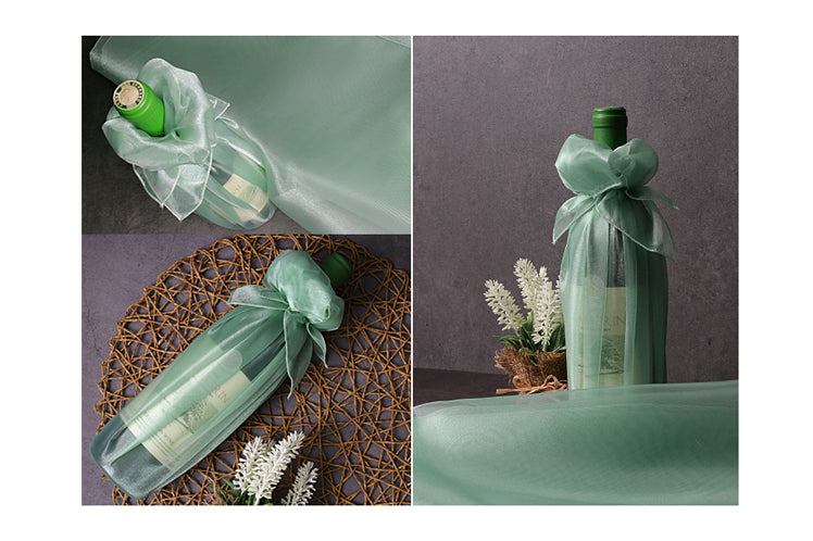 Wine bottles and flower vases can be wrapped using this fabric wrapping and it's the reason they call it Bojagi art.