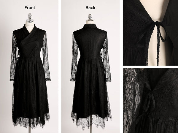 You can get a better idea of the whole look of the onyx modern hanbok dress looking at it in this perspective.