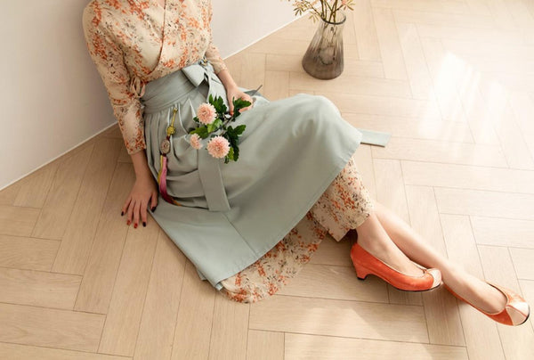 This is another selection of modern hanbok skirt in mint. It is often paired with a modern hanbok dress.