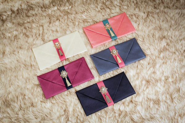 This is another Korean money wallet that's often used as a present. People use the Korean Money Envelope to provide friends with money during weddings.