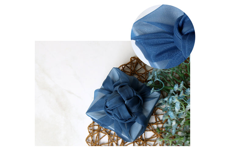 A man would love to have his present wrapped in this azure lucid Bojagi fabric wrapping cloth.