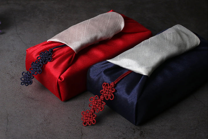 The black and cherry norigae options are lovely for a festive wrap around a gift.
