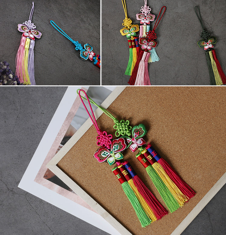 You'll notice that the tassels are very festive and colorful to add a playful ornament to any gift.