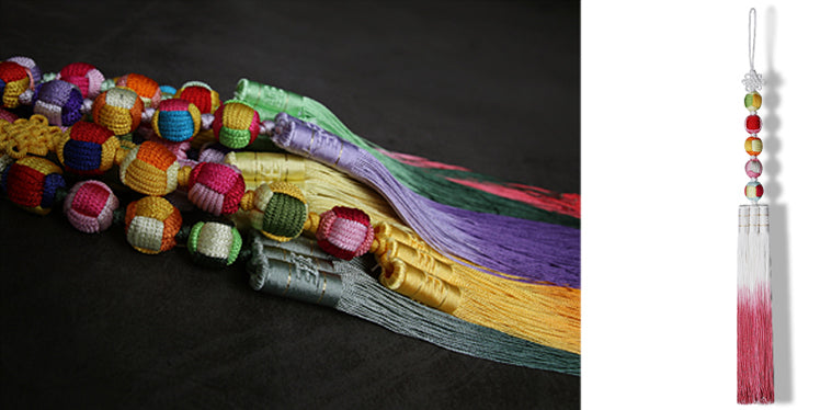 Here is an up close look at the Five Elements of the tassel.