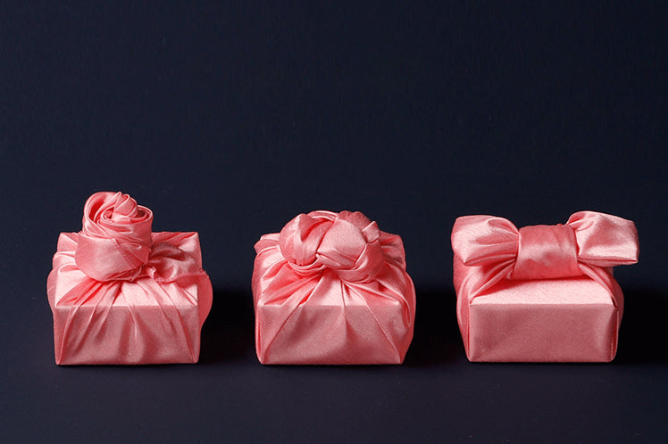 Bright pink single sided Bojagi will bring tears to the eyes of any girl that receives it. It's luxury gift wrap that's fit for a princess.