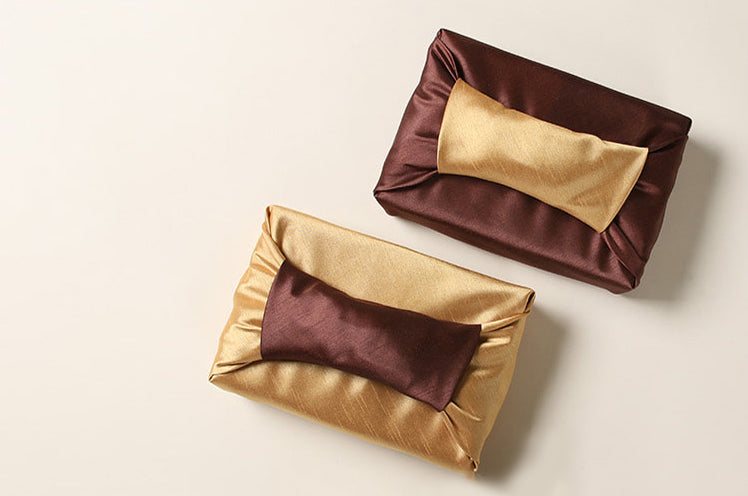 Sepia and coffee Bojagi gift wrap looks exquisite regardless of the occasion.