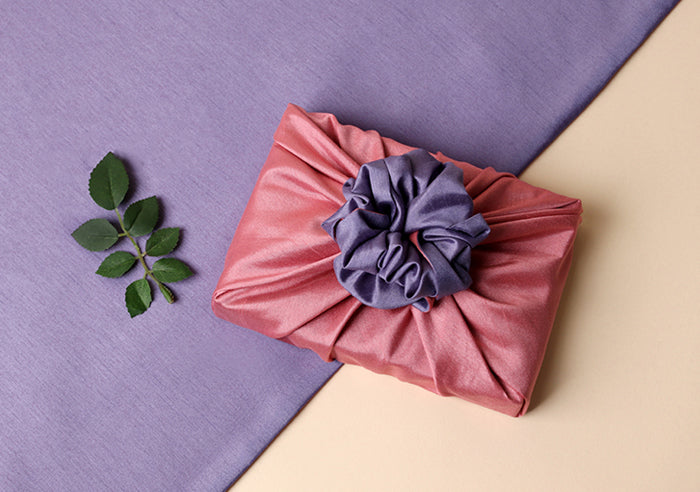 Using the coral and lavender double sided Bojagi fabric allows you the option to pick and choose the color you want to display most and it's high-quality fabric wrapping paper.
