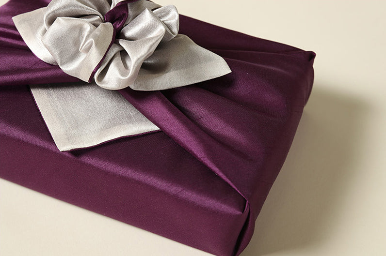 An up close shot of the Korean wrapping cloth Bojagi allows you to see just how jaw-dropping it is when it's added to any present for boys or girls and it really is the most sophisticated fabric wrapping paper.