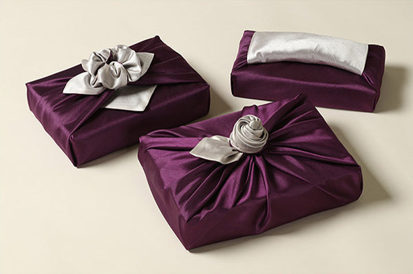The violet Bojagi fabric is great for formal events such as weddings where you want a more gorgeous wrapping cloth.