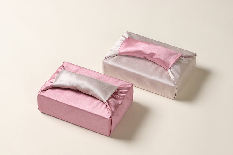 Since this is a blush and cream colored double sided Bojagi, you can use this as reusable gift wrap with either side the main attraction.