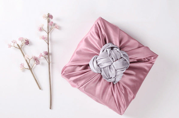 It's not hard to tie an intricate bow on the top of this Korean Bojagi wrapping cloth and will make any little girl smile.