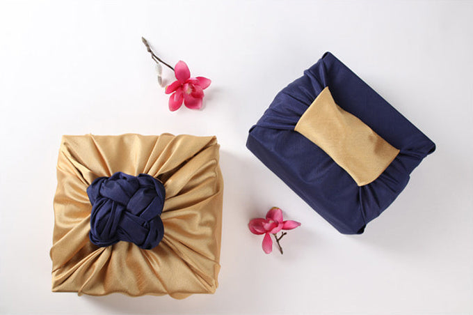 Wrapping presents with fabric adds an exceptional appearance, especially when it's beryl and umber Bojagi art.