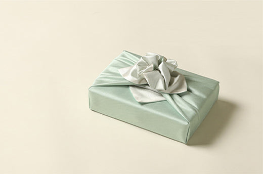 Jade and silver double sided Bojagi Art makes any present the talk of the town. Impress your guests with this luxury gift wrap.