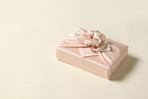 Tangerine and silver come together to bring you superior Korean Bojagi gift wrapping cloth that looks good during Seollal or other Korean traditional holidays.