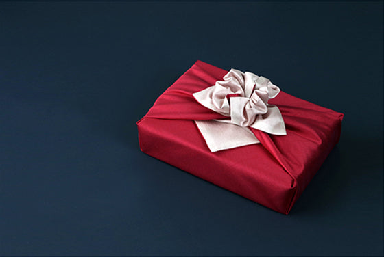 This dark red and rose colored double sided Bojagi is the ultimate fabric wrapping cloth for Christmas to show that special someone how much you care.