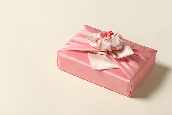 Light rose and dark pink make this double sided Bojagi a great fabric wrap for little girls of any age.