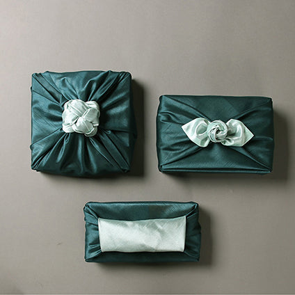 Korean Bojagi in sage and sky blue is classy for any festive occasion and will bring a smile to those that see it.