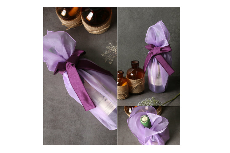 Lilac lucid Bojagi provides a timeless look if you want to wrap presents with fabric.