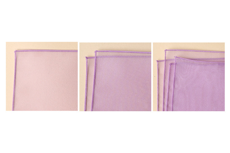 The sheer and thin fabric wrapping paper in lavender will add sophistication to any gift-giving situation.