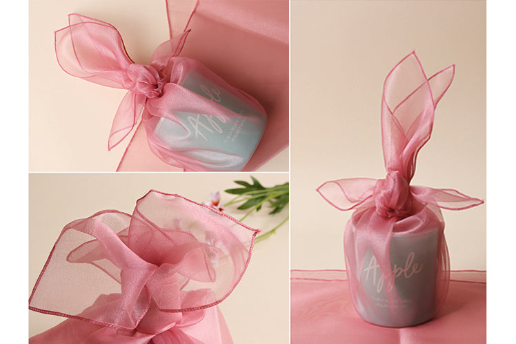 Coral Korean fabric wrap looks stunning and striking, even if it's just wrapping household items such as cups.