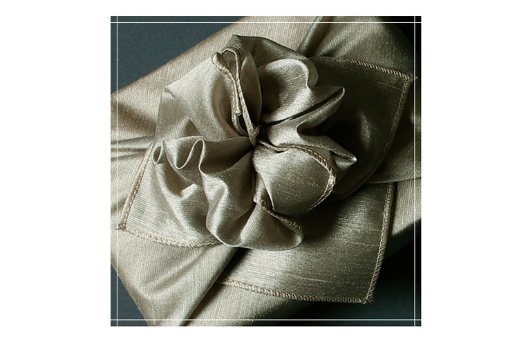 Add a personal touch to your gift by making a bow with the cyan Korean Bojagi for sale.