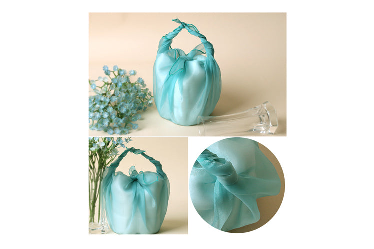 Turn any gift into a precious and bold memory with this clear blue Bojagi gift wrap.